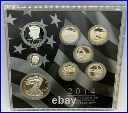2014 U. S. Mint Limited Edition Silver Proof Set Includes Original Box & COA