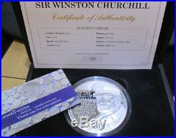 2015 £10 SILVER PROOF 5oz COIN WINSTON CHURCHILL WARTIME PRIME MINISTER box/cert