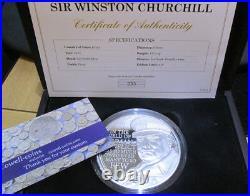 2015 £10 SILVER PROOF 5oz COIN WINSTON CHURCHILL WARTIME PRIME MINISTER box/coa