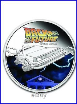 2015 Back to the Future Silver Proof Coin & Car 1oz -UNOPENED In Box With COA