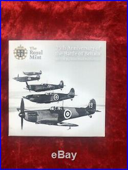 2015 Battle of Britain Piedfort 50p Fifty Pence Silver Proof Coin Box Coa
