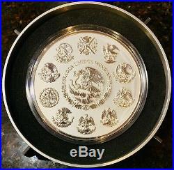 2015 Mexico 1 Kilo Silver Aztec Calendar Proof 1000 Grams BU withStand Box & COA