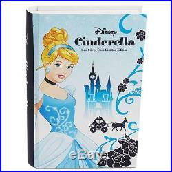 2015 Niue Disney Princess Cinderella $2 Two Dollar Silver Proof 1oz Coin Box Coa