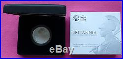 2015 Royal Mint Britannia Silver Proof Two Pound Coin Box + Coa