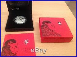 2015 Royal Mint British Lunar Sheep £2 Two Pound Silver Proof 1oz Coin Box Coa