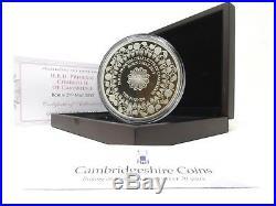 2015 Silver 5oz Proof Princess Charlotte Of Cambridge £10 Coin COA Box