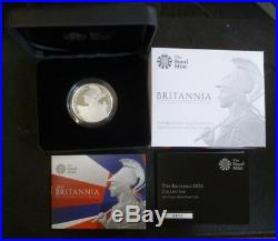 2015 United Kingdom Fine Silver Proof Britannia £2 Helmeted Britannia Boxed