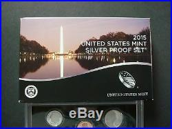 2015-s Silver Proof Set New In Sealed Shipping Box Lowest Mintage Since 1955