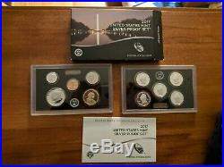 2016, 2017, 2018 Silver Proof U. S. Mint Sets (33 coins), orig boxes and COAs