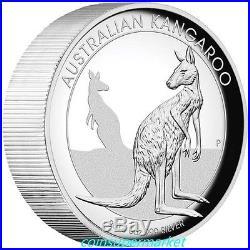2016 Australian Kangaroo 5oz Silver Proof High Relief Coin Perth Mint COA & Box