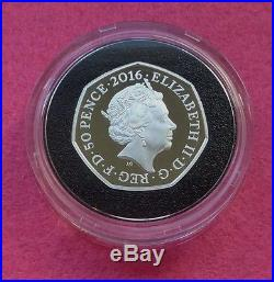 2016 Beatrix Potter 150th Anniversary Silver Proof 50p Fifty Pence Coin Box And