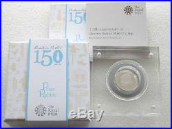 2016 Beatrix Potter Peter Rabbit 50p Fifty Pence Silver Proof Coin Box Coa 00527