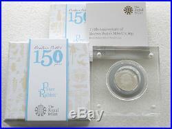 2016 Beatrix Potter Peter Rabbit 50p Fifty Pence Silver Proof Coin Box Coa