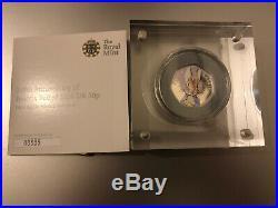 2016 Beatrix Potter Peter Rabbit 50p Fifty Pence Silver Proof Low Coa Box