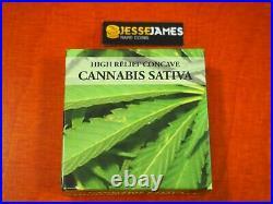 2016 Benin Proof Silver Colorized Cannabis Sativa Ngc Pf70 1 Oz. 999 W Box/ Coa