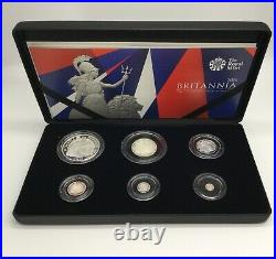 2016 Britannia Silver Proof 6 Coin Set Box And Coa