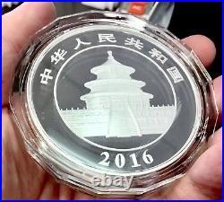 2016 China 50 Yuan 150 g Commemorative Silver Panda Proof Coin with Box & COA