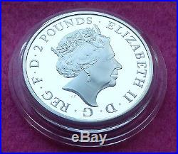 2016 Lunar Year Of The Monkey Silver Proof Two Pound £2 Coin Box And Coa