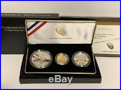 2016 National Parks Service Gold & Silver Commemorative Coin Set Proof w Box COA