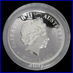 2016 P SILVER AUSTRALIA 5oz PROOF $8 WEDGE-TAILED EAGLE HIGH RELIEF IN BOX