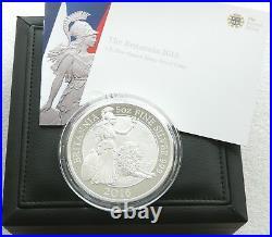 2016 Royal Mint British Britannia £10 Ten Pound Silver Proof 5oz Coin Box Coa