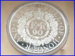 2016 Royal Mint Queens 90th Birthday UK £500 Silver Proof Kilo Coin Box Coa