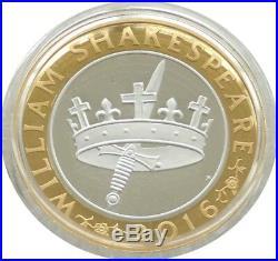 2016 Shakespeare Histories Piedfort £2 Two Pound Silver Proof Coin Box Coa