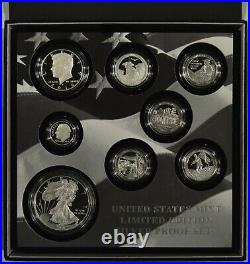 2016 United States Mint Limited Edition Silver Proof 8 Coin Set with Box + COA