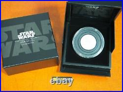 2017 $5 Niue Proof Silver Hans Solo Star Wars 2 Ounce. 999 In Original Box/coa