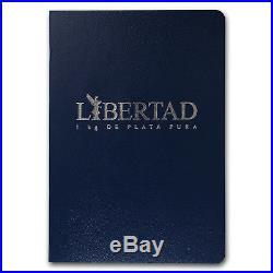 2017 Mexico 1 kilo Silver Libertad Proof Like (withBox & COA)