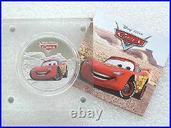 2017 Niue Disney Pixar Cars Lightning McQueen $2 Silver Proof 1oz Coin Box Coa
