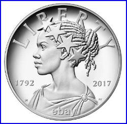 2017 P AMERICAN LIBERTY 225th ANNIVERSARY PROOF 1OZ. BOX COA $158.88