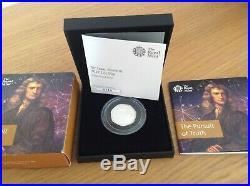 2017 Royal Mint Sir Isaac Newton Silver Proof Fifty Pence 50p coin COA Box