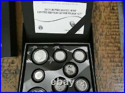 2017-S U. S. MINT LIMITED EDITION SILVER PROOF SET withBOX and COA COMPLETE SET