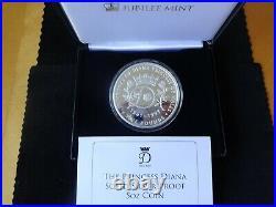 2017 Silver Proof 5oz Tristan Da Cunha £5 Coin Box + Coa Princess Diana 1/199