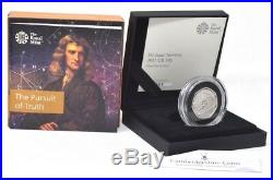 2017 Sir Isaac Newton Silver Proof 50p Coin Box + COA 7,000 Minted RARE Scarce