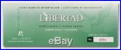 2018 5-Coin Casa De Moneda Mexico Libertad Proof Silver Set Box & COA BU