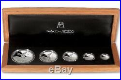 2018 Mexico Libertad 5-Coin Silver Proof Set, 1.9 oz 999 Silver, WithBox & Cer