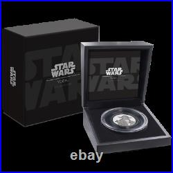 2018 Niue $5 Star Wars Yoda Ultra High Relief 2 oz. 999 Silver Proof Coin in Box