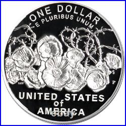 2018 Proof World War I Silver Dollar Army Medal 2pc Set Box OGP & COA