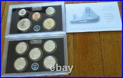 2018 Reverse Silver Proof Set U. S. Mint Box & COA 10 coins Silver Half Quarters