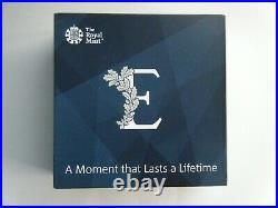 2018 Royal Mint Sapphire Coronation UK £10 Ten Pound Silver Proof Coin Box/COA