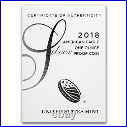 2018-S 1 oz Proof Silver American Eagle (withBox & COA) SKU#172295