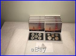 2018 S Silver Reverse Proof Set MINT FRESH COA Box 10 silver coin set