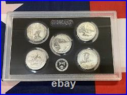 2018-S US Mint Silver REVERSE Proof Set with Box + COA (10 Coins)