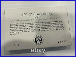 2018-S US Mint Silver Reverse Proof Set, 50th Anniversary, 10 coins, Box, COA
