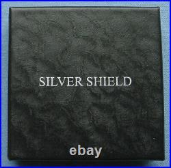 2019 1 oz Silver Shield Proof. 999 Silver Round InfoIndCom Series with box & COA