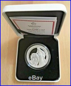 2019 2020 Saint Helena Una & Lion 1 Oz Silver Proof Box Coa Mintage 750