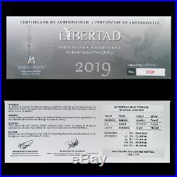 2019 Mexico 5-Coin Silver Libertad Proof Set (1.9 oz, Wood Box) SKU#186717