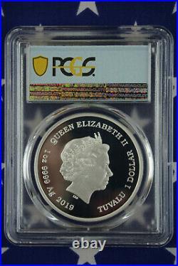 2019-P $1 Tuvalu Lisa Simpson 1 oz Silver Proof Coin PCGS PR70DCAM + COA + Box